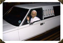 Pope driving limo